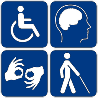 Disability symbols on Wikimedia Commons
