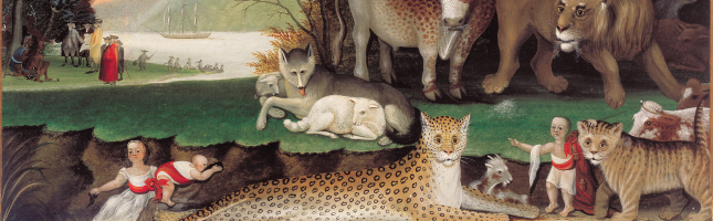 Peaceable Kingdom (detail) by Edward Hicks