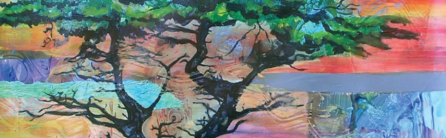 Lone Tree (detail) by Patricia Carroll