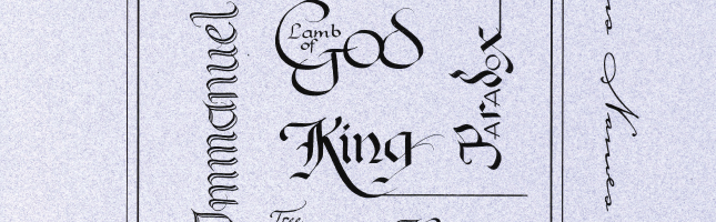 Janette Roeda (detail of calligraphy cover art)