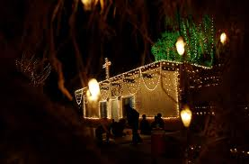 Traditional Pakistani church decorated for Christmas